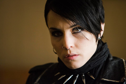Noomi Rapace is Lisbeth Salander, The Girl with the Dragon Tattoo in the