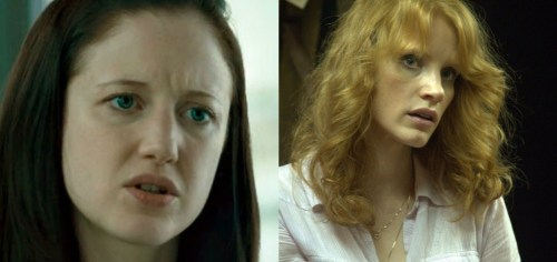 Andrea Riseborough and Jessica Chastain