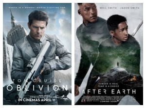 Oblivion and After Earth posters