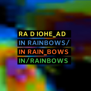 Radiohead In Rainbows album cover