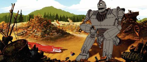 The iron giant scrapyard