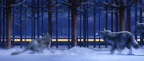 The Polar Express wolves