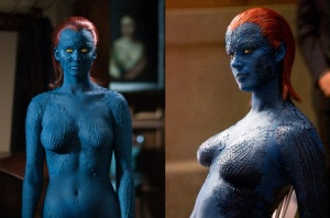 Raven Darkholme Mystique Rebecca Romijn Jennifer Lawrence