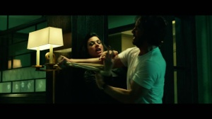 John Wick  Keanu Reeves and Adrianne Palicki