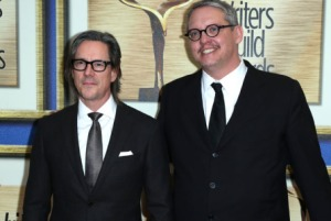Mandatory Credit: Photo by Buchan/REX/Shutterstock (5586613u) Charles Randolph and Adam McKay 68th Annual Writers Guild Awards, West Coast Ceremony, Los Angeles, America - 13 Feb 2016