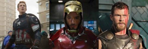 Chris Evans Robert Downey Jr Chris Hemsworth