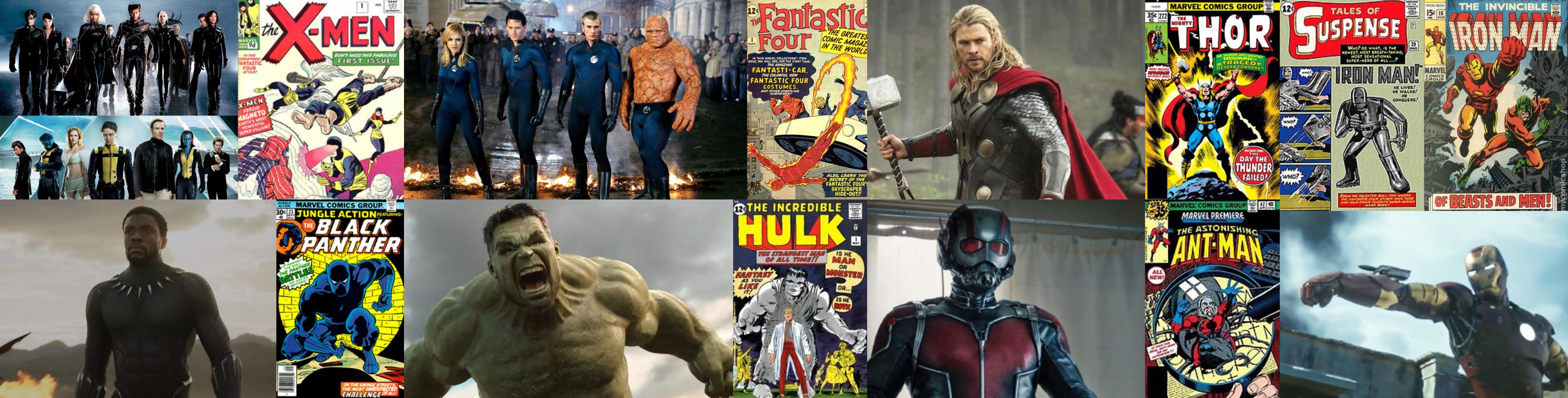 x men fantastic four thor iron man black panther hulk ant man