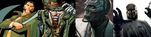 Ra's al Ghul Mad Hatter Black Mask and Hugo Strange