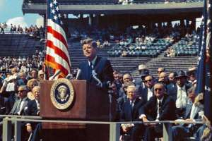 President John F Kennedy Moon Speech at Rice Stadium
