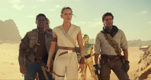 the rise of skywalker rey fin poe